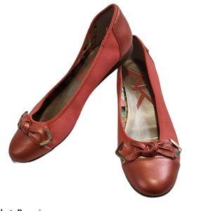 Anne Klein Sport Ballet Flats Coral colour Sz 9
